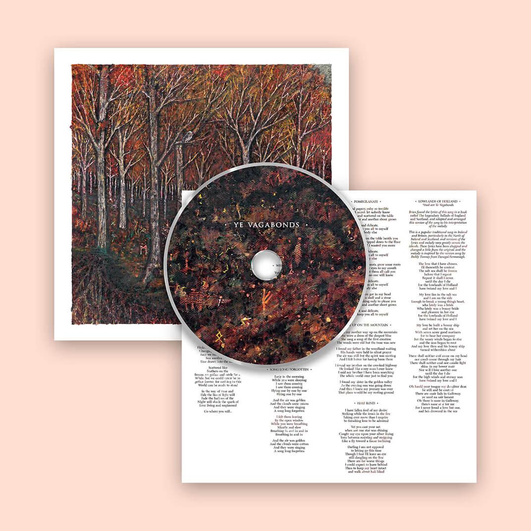 Ye Vagabonds album CD design