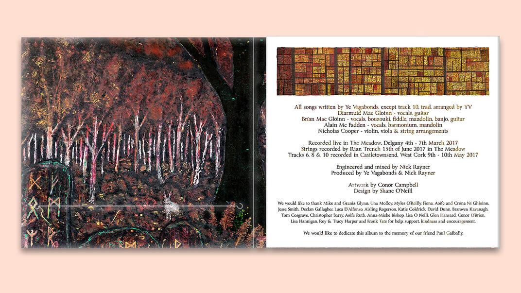 Ye Vagabonds album cover inside design 1